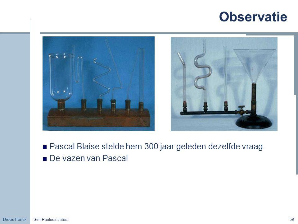 Observatie Pascal Blaise stelde hem 300 jaar geleden dezelfde vraag.