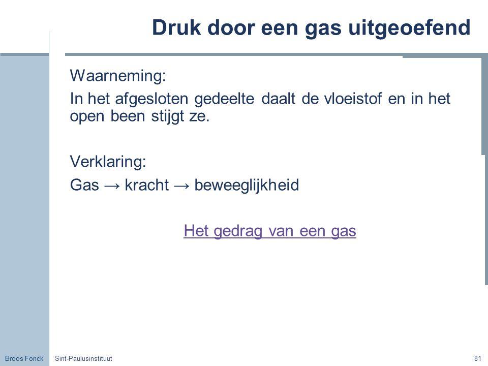 Druk door een gas uitgeoefend