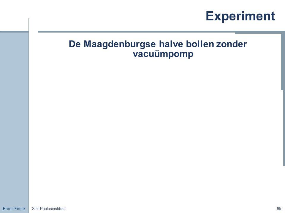 De Maagdenburgse halve bollen zonder vacuümpomp