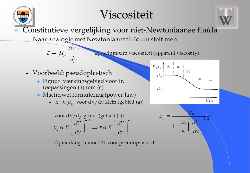 ma=schijnbare viscositeit (apparent viscosity)