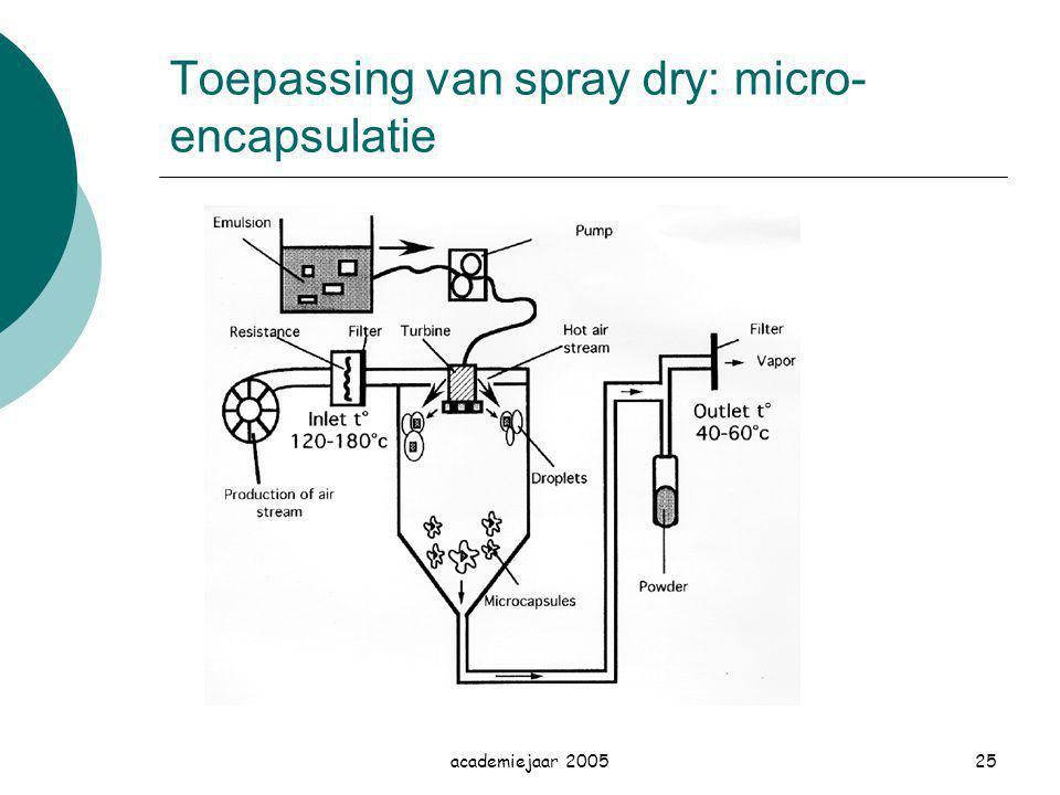 Toepassing van spray dry: micro-encapsulatie