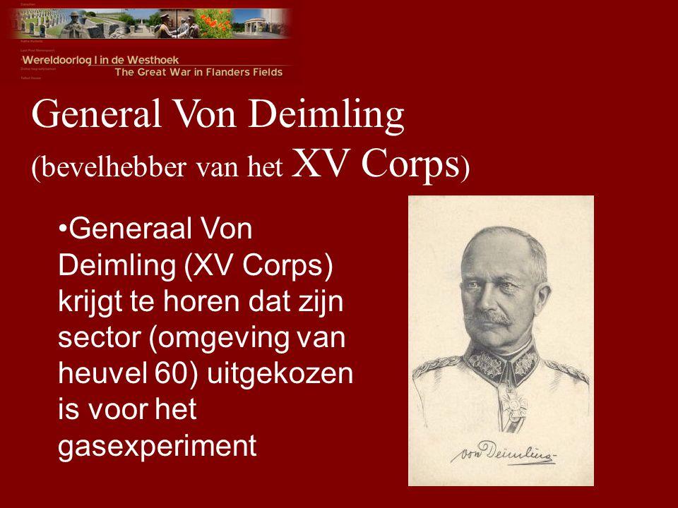 General Von Deimling (bevelhebber van het XV Corps)