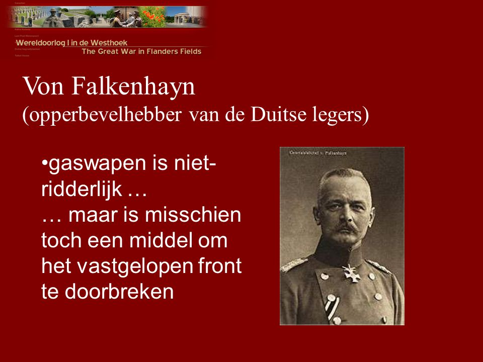Von Falkenhayn (opperbevelhebber van de Duitse legers)