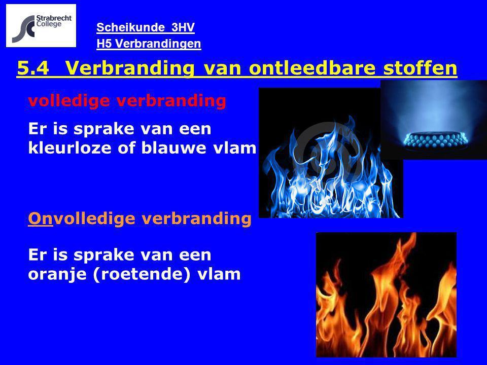 Scheikunde 3HV H5 Verbrandingen