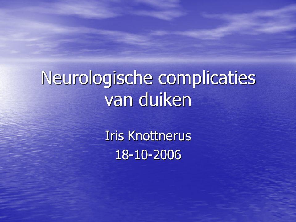 Neurologische complicaties van duiken