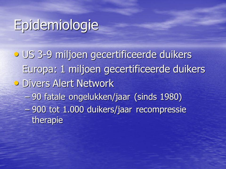 Epidemiologie US 3-9 miljoen gecertificeerde duikers