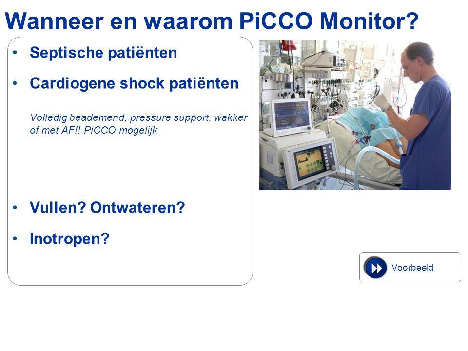 Wanneer en waarom PiCCO Monitor