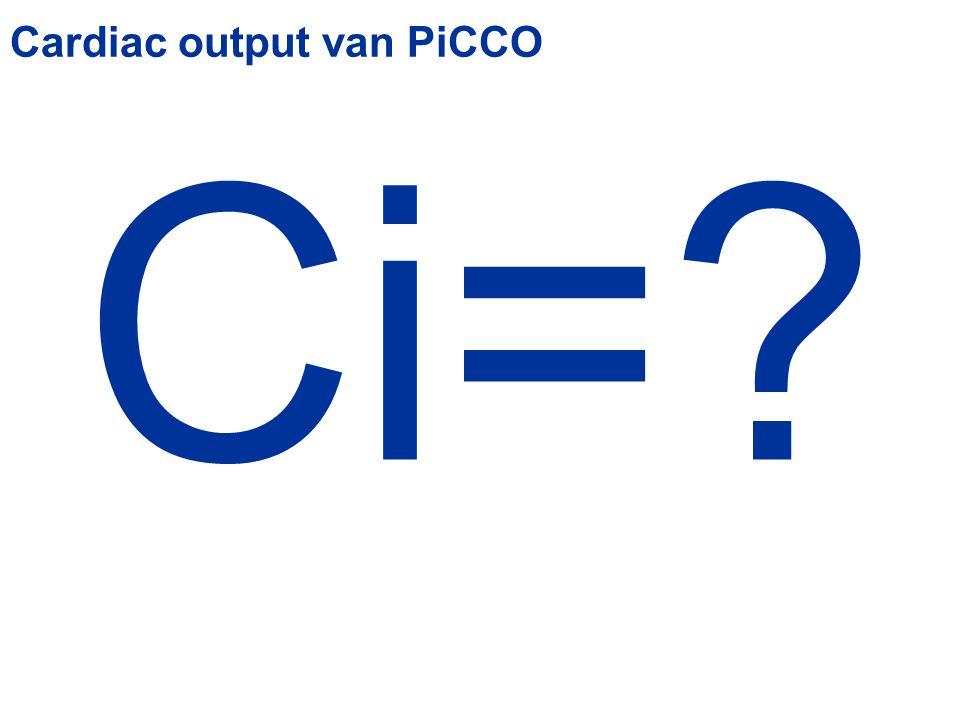 Cardiac output van PiCCO