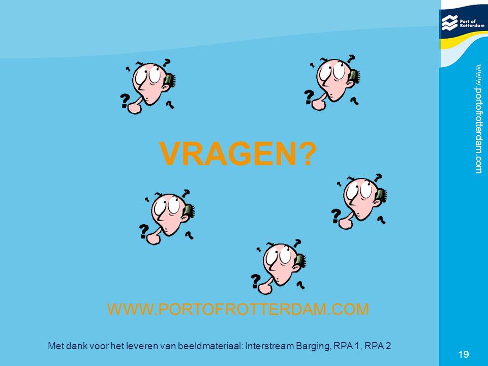 VRAGEN WWW.PORTOFROTTERDAM.COM www.portofrotterdam.com