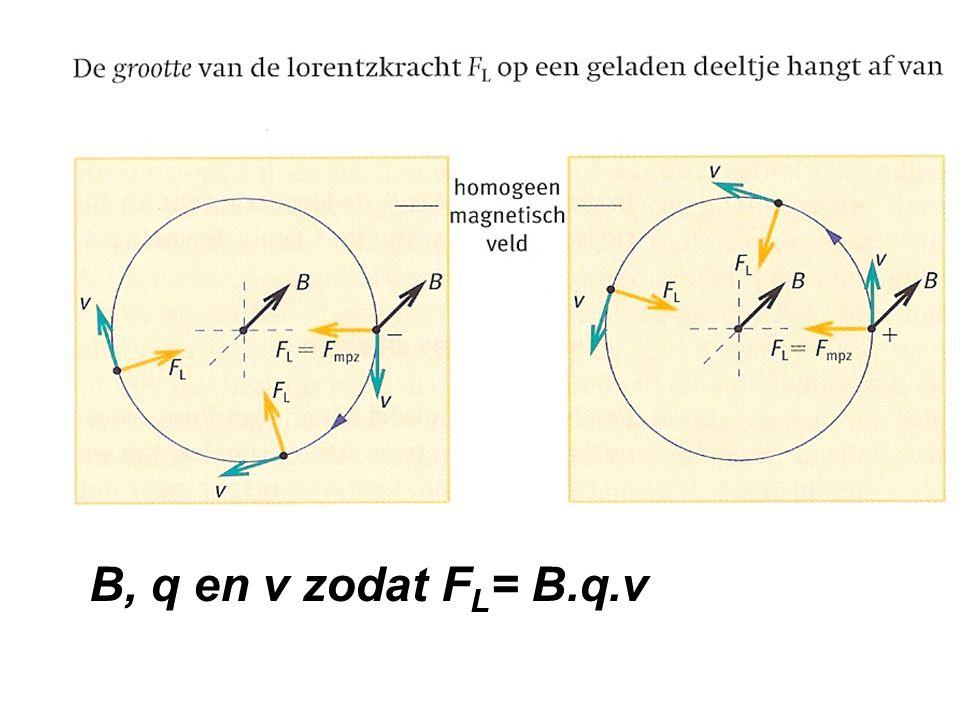 B, q en v zodat FL= B.q.v