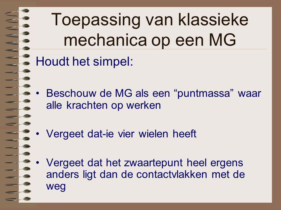 Toepassing van klassieke mechanica op een MG