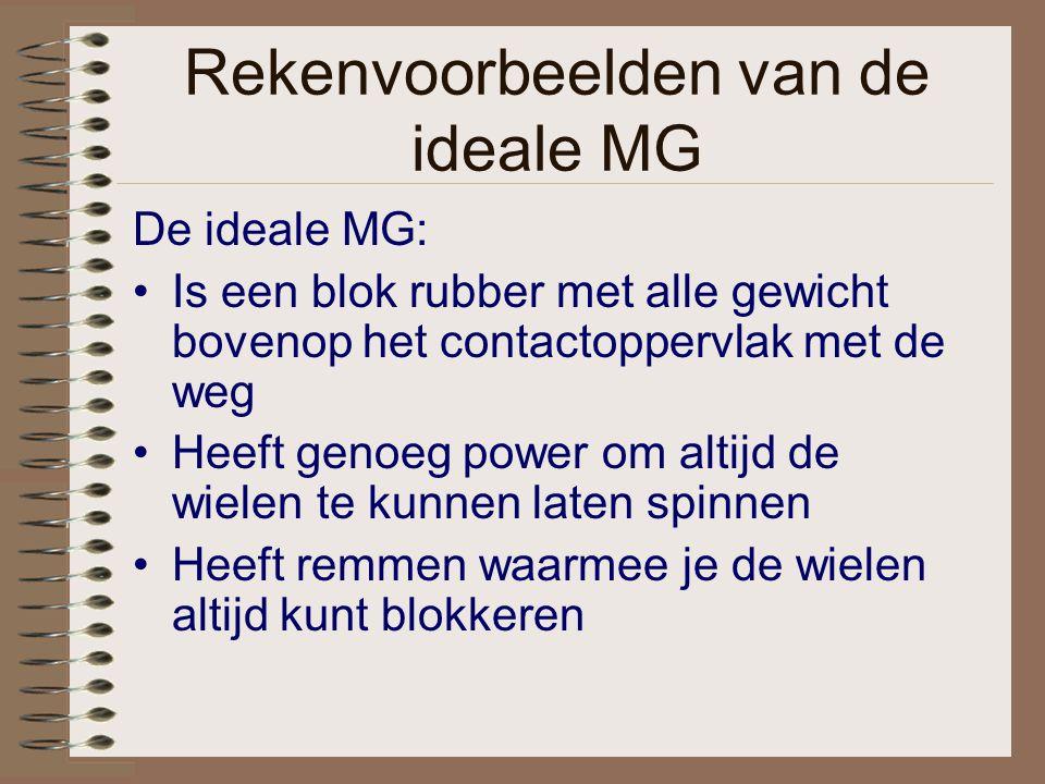Rekenvoorbeelden van de ideale MG