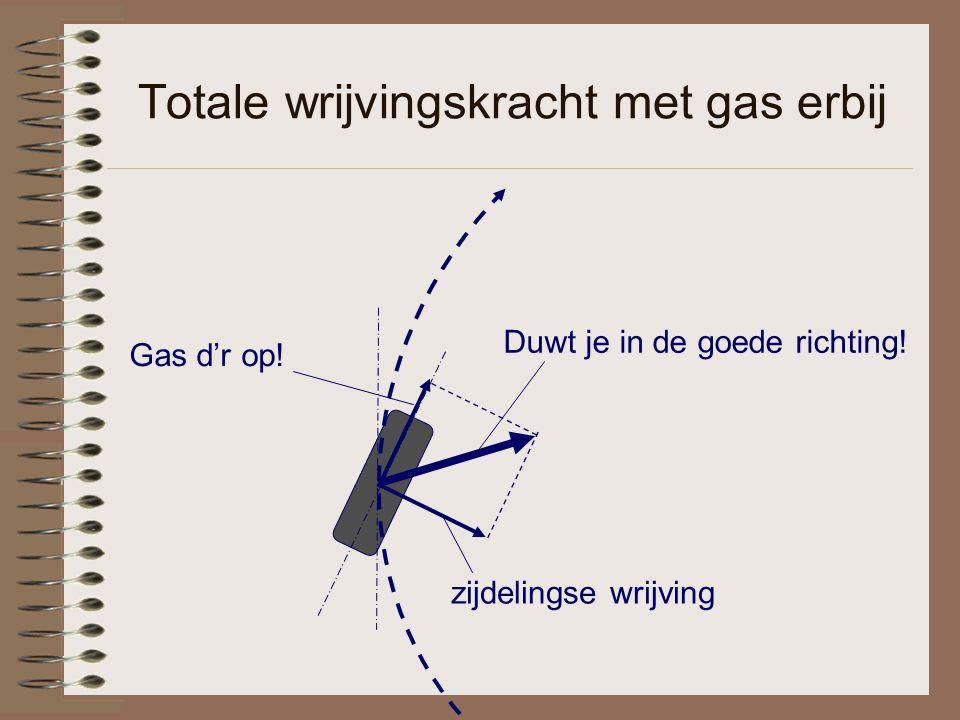 Totale wrijvingskracht met gas erbij