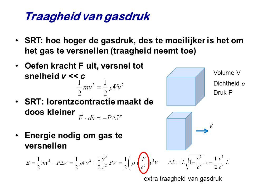Traagheid van gasdruk SRT: hoe hoger de gasdruk, des te moeilijker is het om het gas te versnellen (traagheid neemt toe)