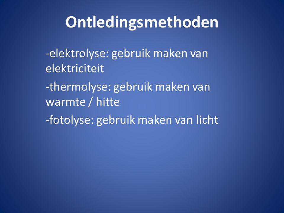 Ontledingsmethoden -elektrolyse: gebruik maken van elektriciteit