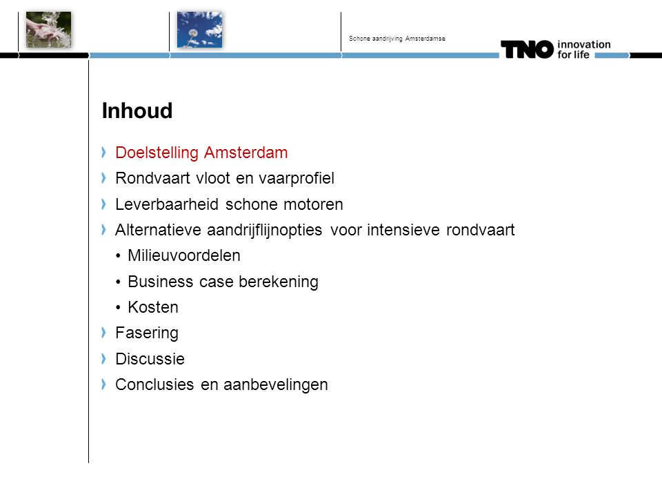 Inhoud Doelstelling Amsterdam Rondvaart vloot en vaarprofiel