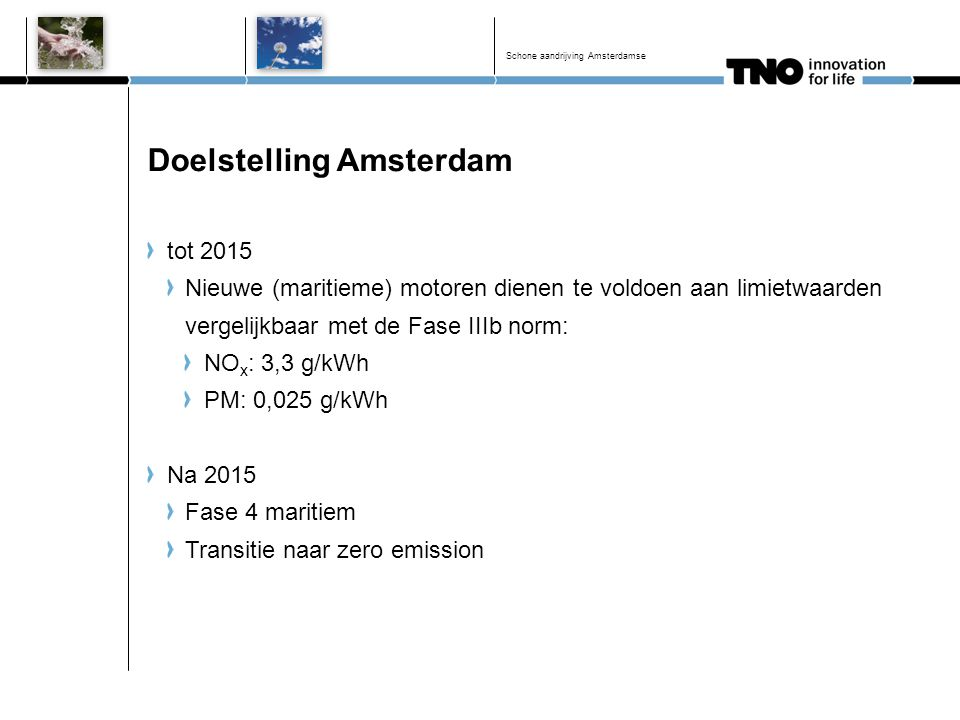 Doelstelling Amsterdam