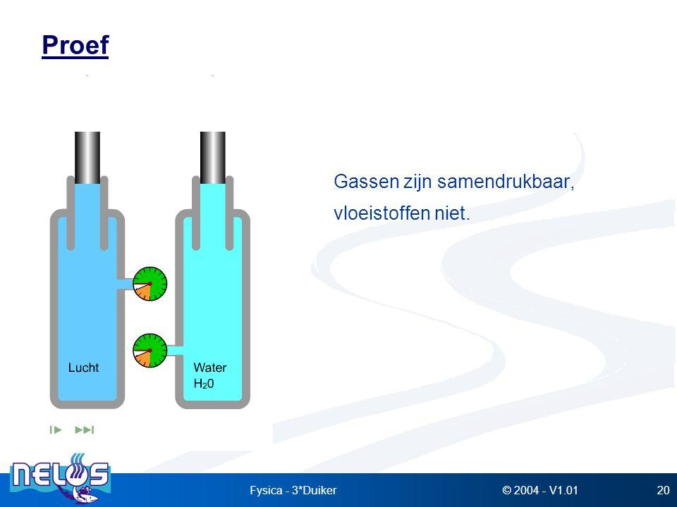 Proef Gassen zijn samendrukbaar, vloeistoffen niet. Fysica - 3*Duiker