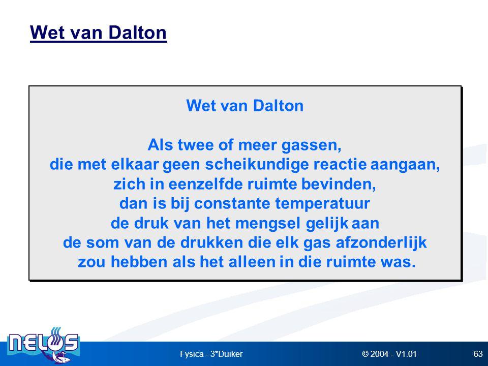Wet van Dalton Wet van Dalton Als twee of meer gassen,