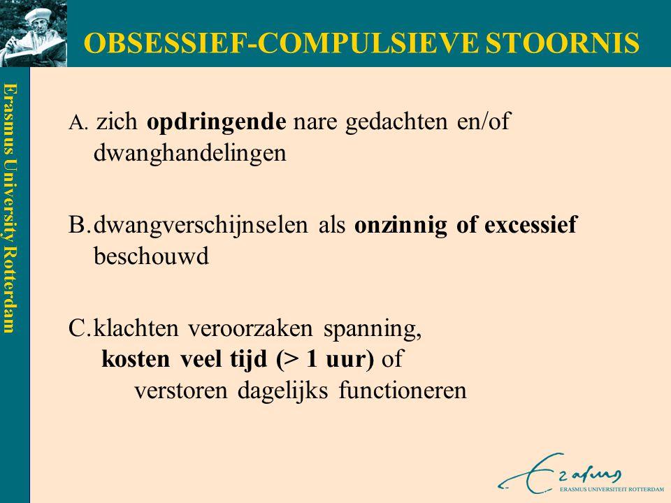 OBSESSIEF-COMPULSIEVE STOORNIS