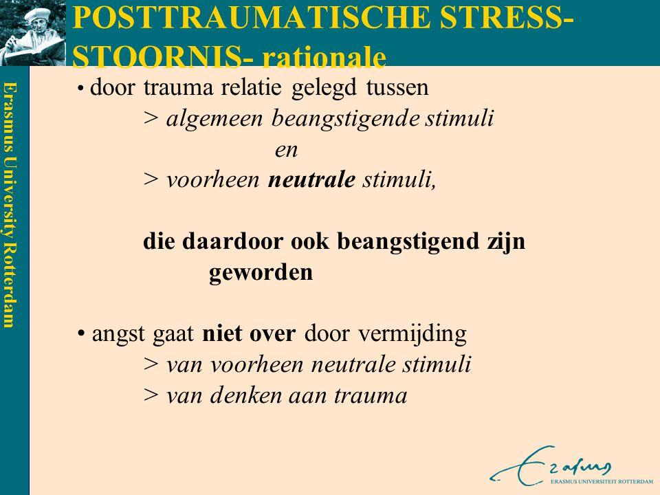POSTTRAUMATISCHE STRESS-STOORNIS- rationale