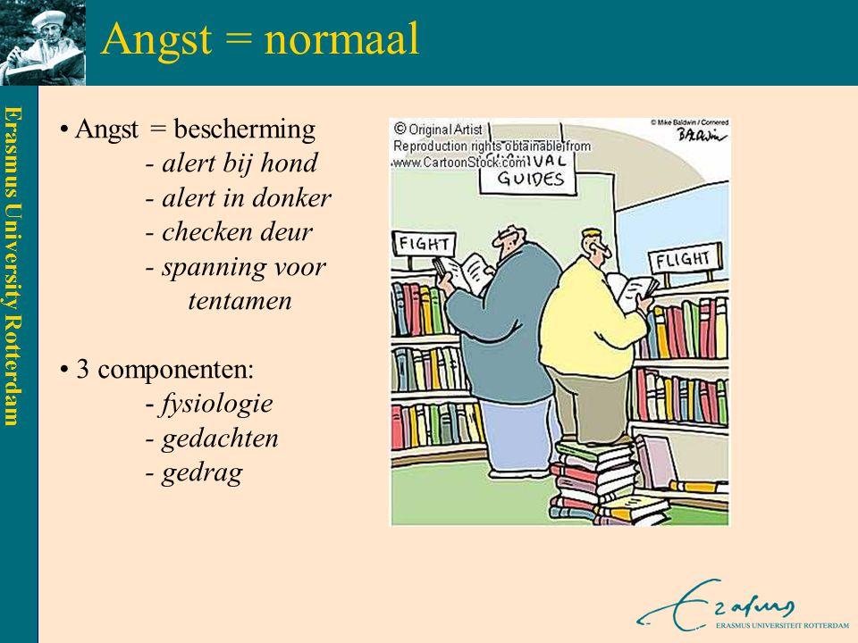 Angst = normaal Angst = bescherming - alert bij hond - alert in donker - checken deur - spanning voor.