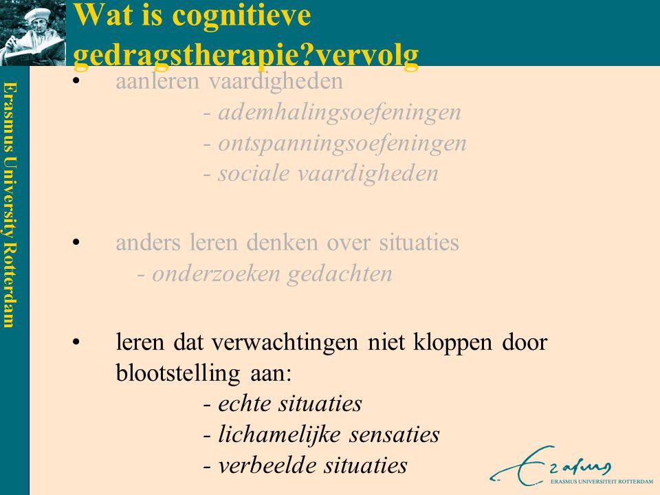 Wat is cognitieve gedragstherapie vervolg