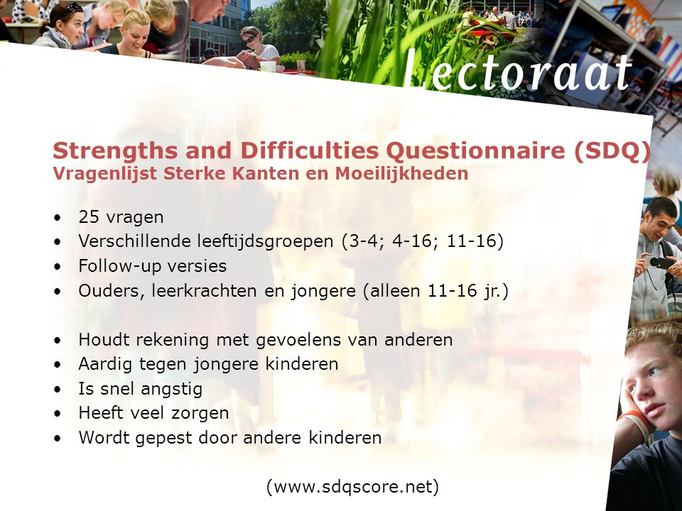 Strengths and Difficulties Questionnaire (SDQ)