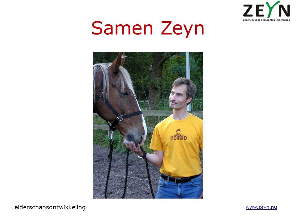 Samen Zeyn Leiderschapsontwikkeling www.zeyn.nu