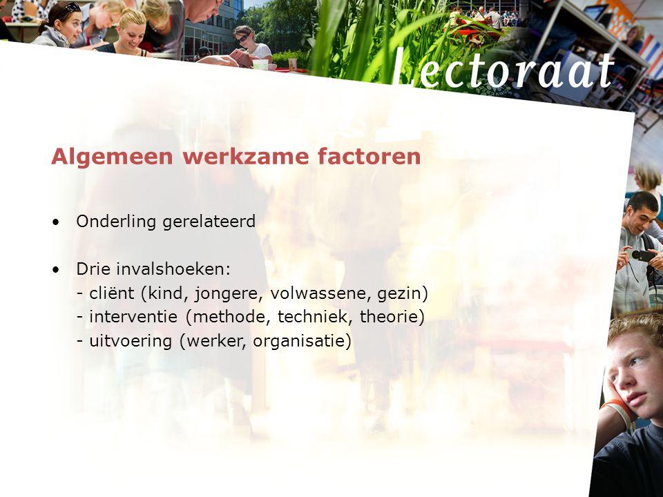 Algemeen werkzame factoren