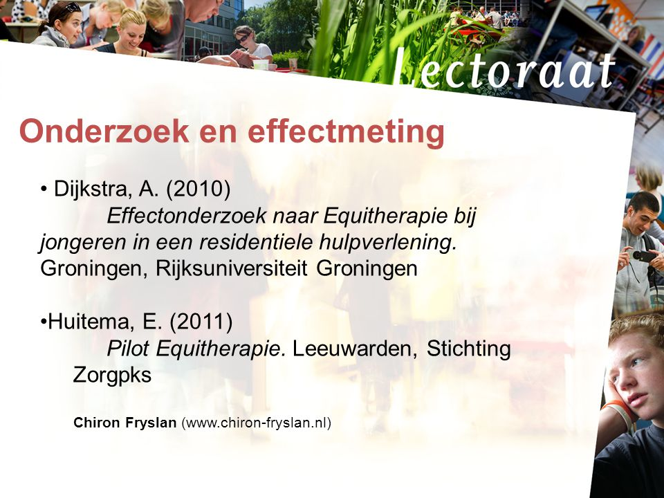 Onderzoek en effectmeting