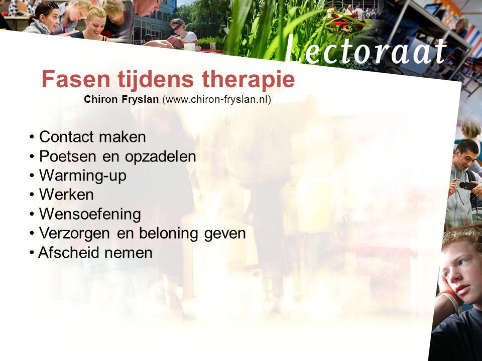 Fasen tijdens therapie Chiron Fryslan (www.chiron-fryslan.nl)