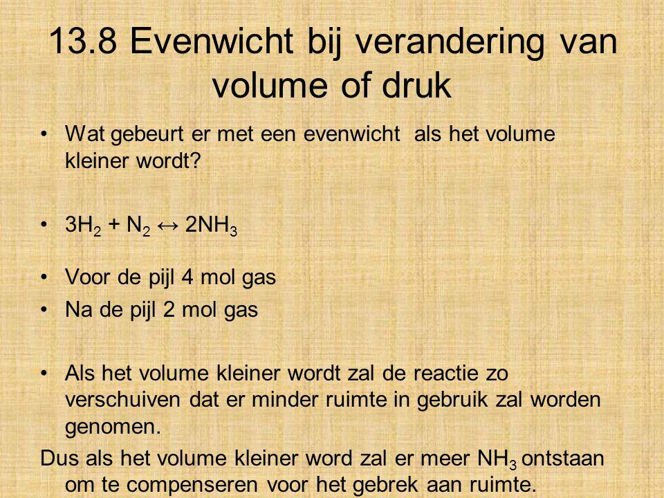 13.8 Evenwicht bij verandering van volume of druk