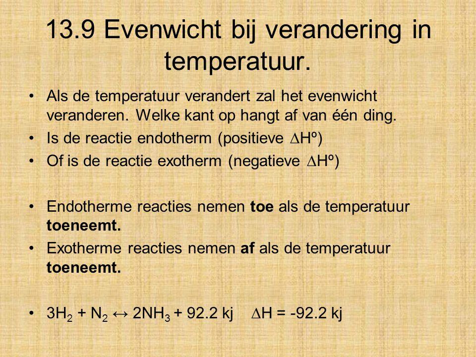 13.9 Evenwicht bij verandering in temperatuur.