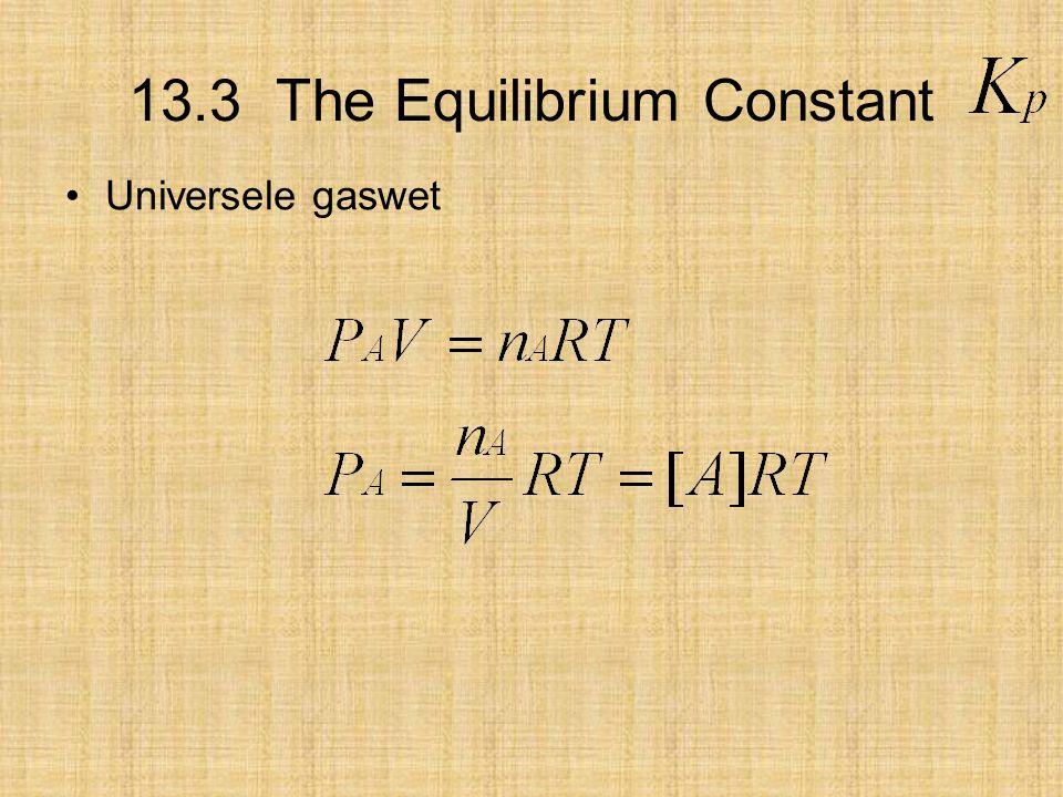 13.3 The Equilibrium Constant