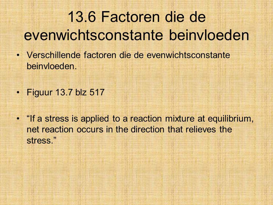 13.6 Factoren die de evenwichtsconstante beinvloeden
