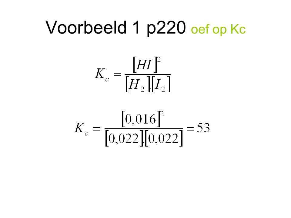 Voorbeeld 1 p220 oef op Kc