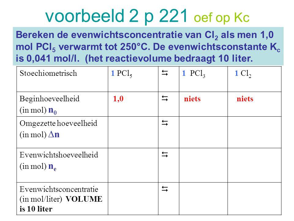 voorbeeld 2 p 221 oef op Kc