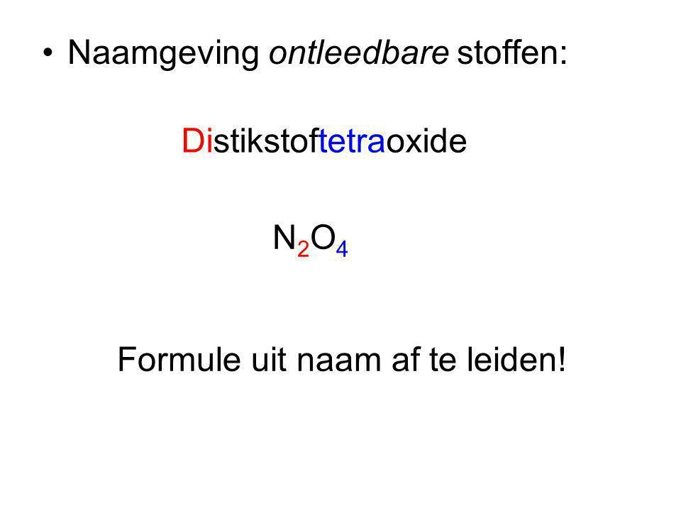 Naamgeving ontleedbare stoffen: