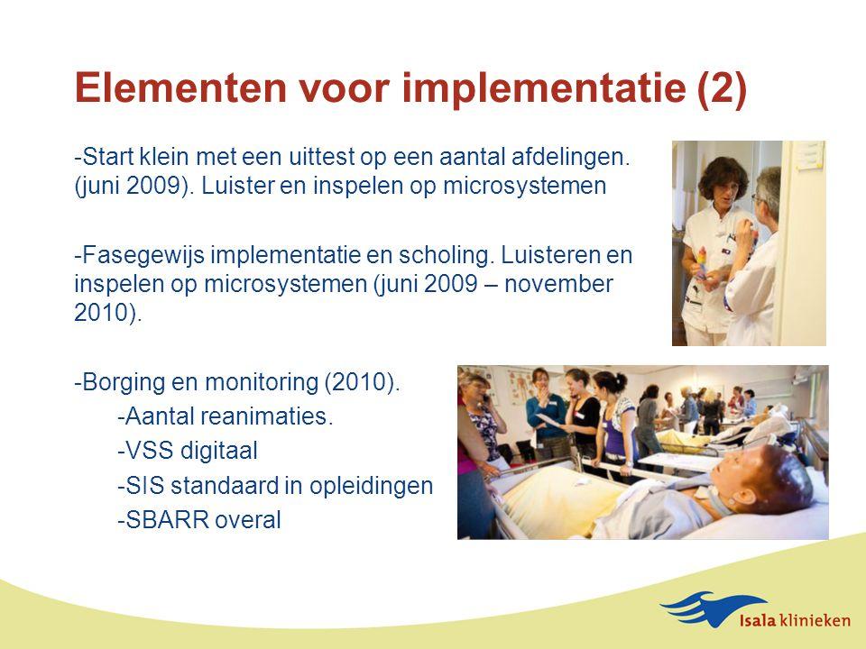 Elementen voor implementatie (2)