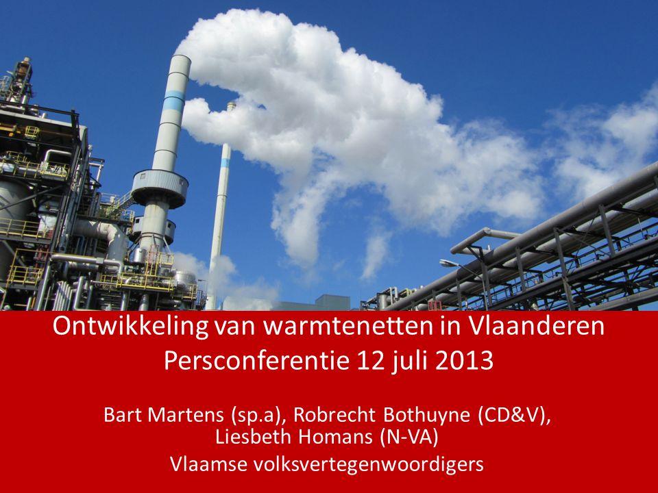Ontwikkeling van warmtenetten in Vlaanderen Persconferentie 12 juli 2013