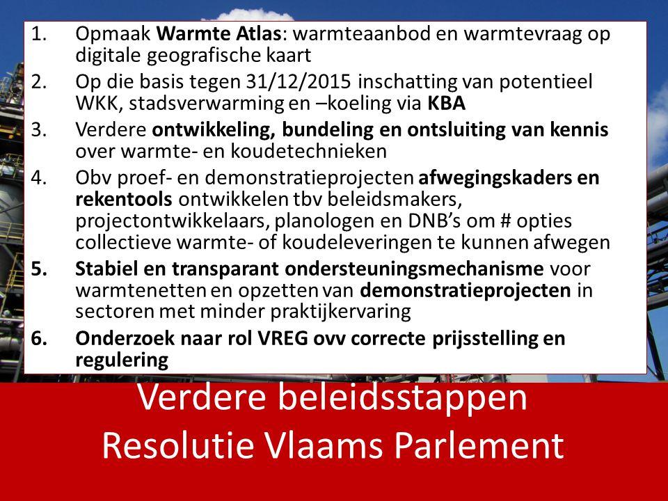 Verdere beleidsstappen Resolutie Vlaams Parlement