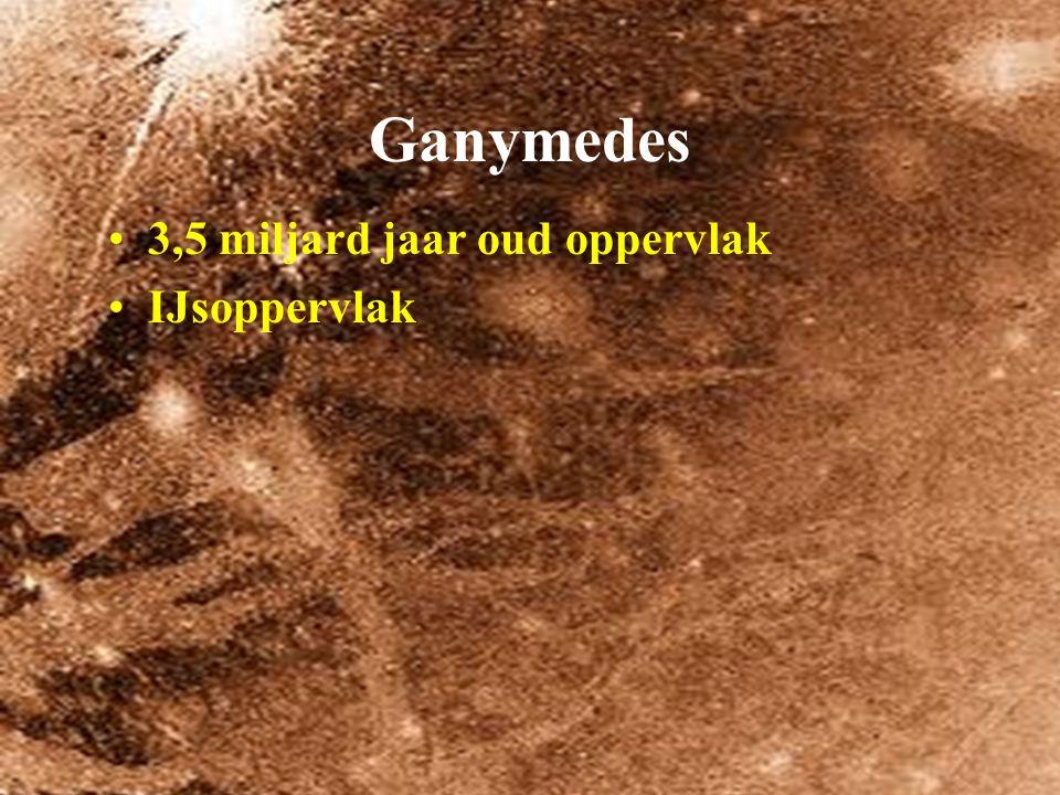 Ganymedes 3,5 miljard jaar oud oppervlak IJsoppervlak