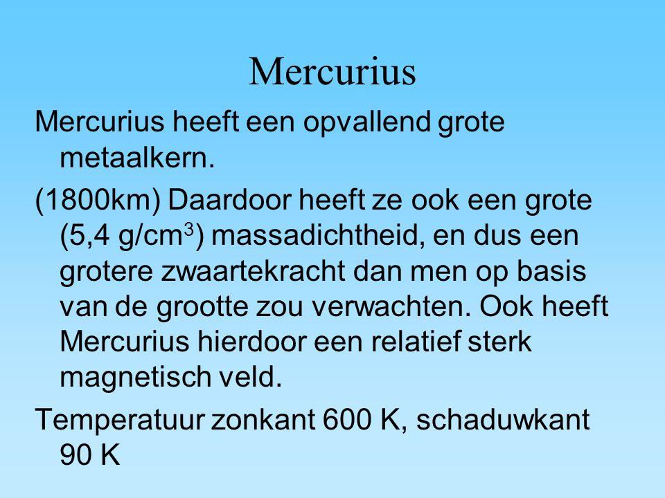 Mercurius Mercurius heeft een opvallend grote metaalkern.