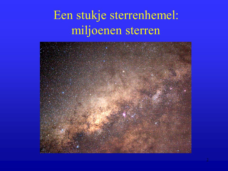 Een stukje sterrenhemel: miljoenen sterren