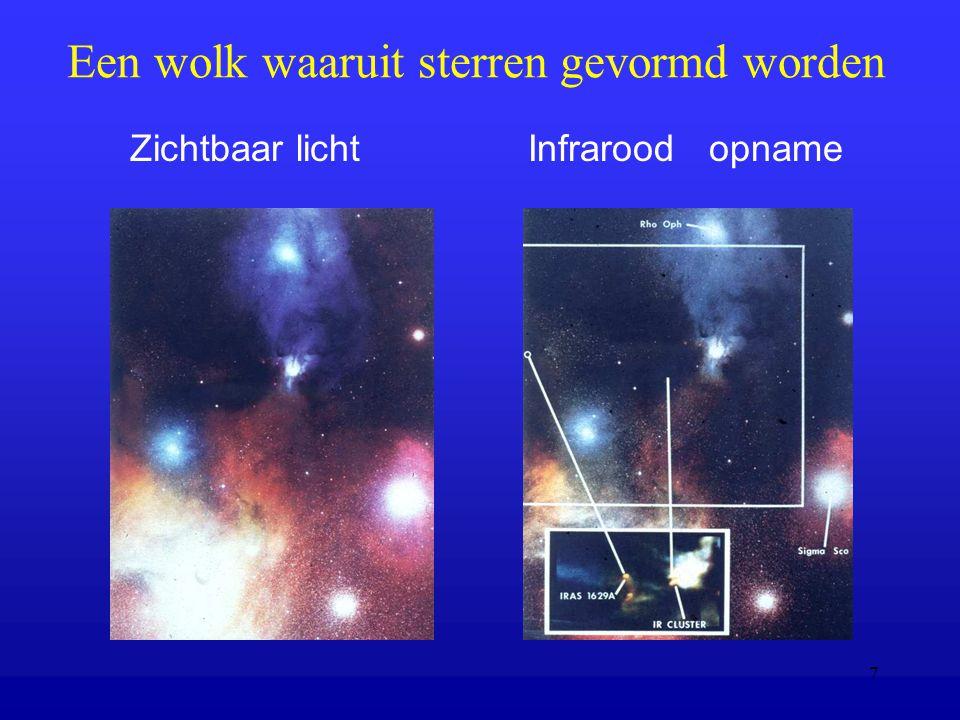 Een wolk waaruit sterren gevormd worden