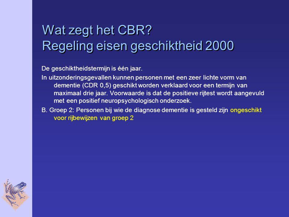 Wat zegt het CBR Regeling eisen geschiktheid 2000