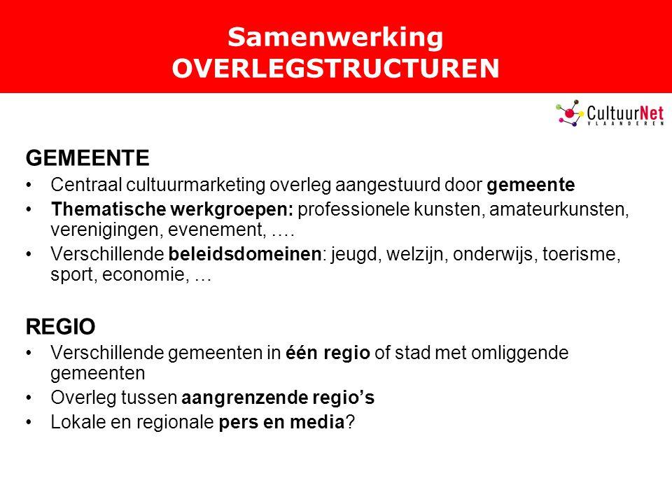 Samenwerking OVERLEGSTRUCTUREN