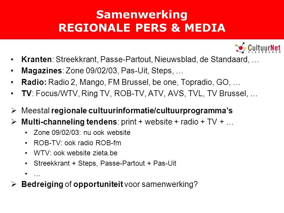 Samenwerking REGIONALE PERS & MEDIA
