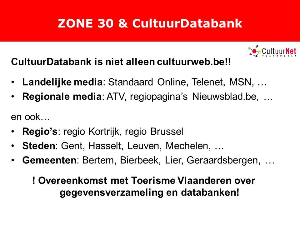 ZONE 30 & CultuurDatabank